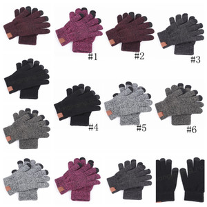 6Colors Knit Gloves Solid Winter knitting fingers Guanto portatile sport all'aria aperta Five Fingers Knitted Gloves 2pcs / pair GGA1345