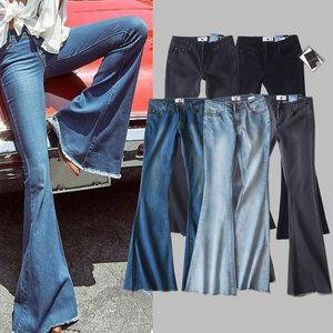 Fashion 5-Color Wash Buttocks Burst Elastic Pants Flare Jeans Slim Trousers Beauty For Blue Black Gray Legs Women Pants Long Ladies Str Vtgr