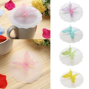 Papillons mignons en silicone couvercles de tasse anti-poussière étanche à boire drinkware couvercle bouchon café thé tasse couvercles couvrent Cuisine Outils