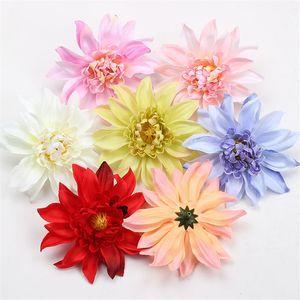 Nuevo 10 cm Simulación Floral Crisantemo Seda Artificial Cabeza de La Flor Decoración de La Boda Artesanía Falsa Flor Fotografía Fake Flower Props