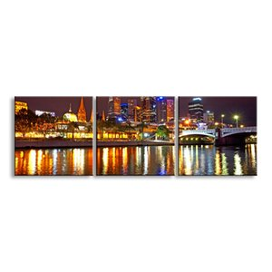 3 pieces high-definition print night view canvas prints painting poster and wall art living room picture CSYJ3-003