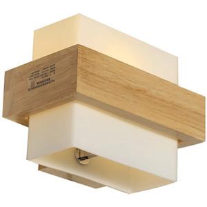 Cristal de madera chino Dormitorio Colchones Lámpara de pared Espejo de baño Aplique de pared frontal Gabinete japonés Escalera Caja Accesorios de iluminación de pared
