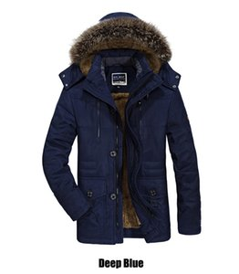 men's Cotton Mens winter with cashmere size in the long section of thick coat jacket L-6XL free shipping