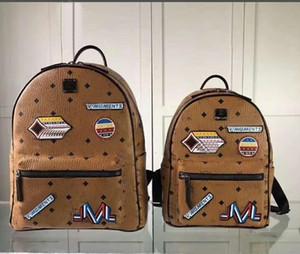 Новый корейский моды панк плечо сумка унисекс аппликация вышивка рюкзак студент сумка