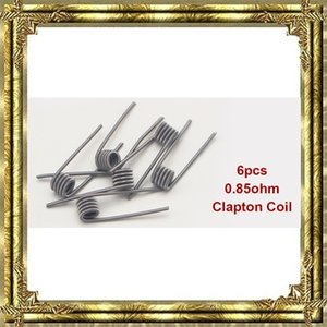 Demon Killer Kit de bobinas pre-compuestas 8 en 1 Quad Hive Twisted Flat Fused Clapton Coil Algodón orgánico RDA bobina cables de calefacción 48pcs