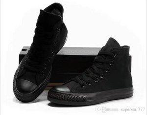 EUR46 نجمة جديدة عالية أعلى عارضة أحذية منخفضة الأعلى نمط نجوم الرياضة تشاك الكلاسيكية قماش حذاء رياضة conve الرجال النساء قماش أحذية هبوط السفينة