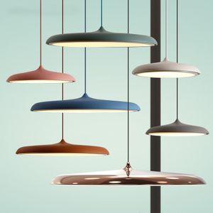 Scandinavian pendant Art Restaurant Lamp Modern Simples Danish Design Bar criativa Makarion Flyer pingente 110v Luz