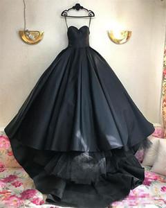 2019 Benzersiz Siyah Gelinlik Modelleri Sevgiliye Balo Abiye Sayısı Tren Custom Made Siyah Örgün Parti Elbiseler