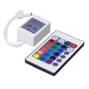12В 24 ключи ИК-пульт дистанционного RGB контроллер для SMD3528 Сид/5050/5730/5630/3014 RGB светодиодные ленты Огни мини-контроллер