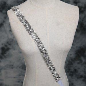 Sparkling Wedding Sashes Bling Bling Cinturones nupciales Nueva llegada White Wedding Sashes Envío gratis Long Sashes 260 * 2cm