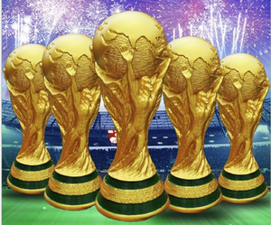 Titan Cup Artware Resina Modelo 21cm 27cm 36cm 44cm Rusia Copa del Mundo de fútbol Fans Regalo de recuerdo ¡DHL Fast entregado! ¡Apoya a tu equipo!