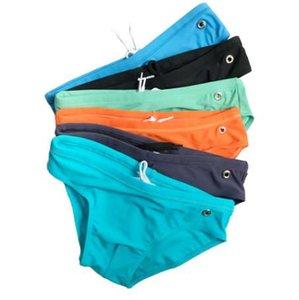 AQUX мужской бренд плавки с низкой талией купальники плавать sluilt плотно Colorfull с сексуальные шорты стволы боксеры летние мужские плавать