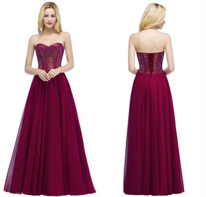 2018 New Arrival Designer Evening Prom Dresses Gorgeous Grape Beaded Pearls Long Party Gowns Free Shipping CPS883