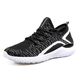 Homens Moda Casual Sapatos 2018 Verão malha respirável Lace Up Shoe Mens Malha Flats Sneakers sapatas Running