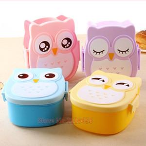 Bento box Cartoon Cute Owl Jogo de panelas Bento Lunch meal box tableware Easy-Open Microwave Preference