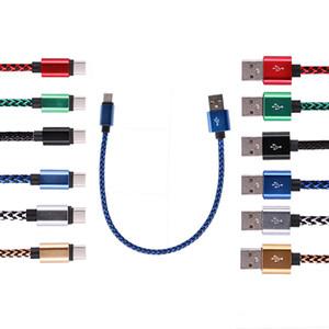 Perakende satış 2.4A Örgü yüksek hızlı hızlı Tip C cep telefonu kablosu 3 ft 6 ft Mikro V8 USB Data'nın senkronizasyon şarj kablosu USB A şarj