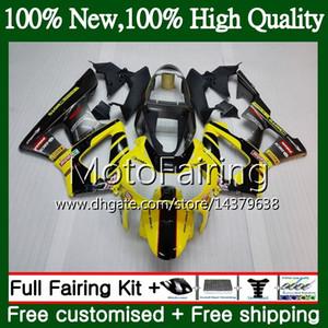 Cuerpo para HONDA CBR900 RR Amarillo negro CBR 929RR CBR 900RR CBR929RR 00 01 54MF21 CBR 929 RR CBR900RR CBR929 RR 2000 2001 Fairing Bodywork