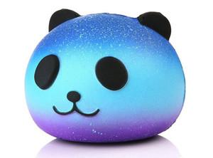 Lindo PU Squishy Super Slow Rising Jumbo Panda Squishy Squeeze correa para el teléfono Juguete de juguete de la diversión de los niños Descompresión de juguete
