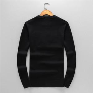 Nueva llegada del suéter para hombre de la camiseta de la sudadera con capucha larga de la manga con la venta del bordado de los géneros de punto de invierno Ropa para Hombres calientes