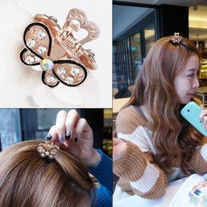 Shinning клипы бабочки волос MINI Rhinestone Pearl Аксессуары для волос Свадебные украшения Женщины партии Supplies украшения ювелирных изделий 10шт много