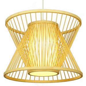 Bambu Pingente Ampulheta Lâmpadas De Bambu Feitos À Mão de tecelagem pingente de luz Pendurado Lâmpada Antique Simples Escada luz de iluminação para casa G055