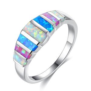 Eheringe für Frauen 925 Sterling Silber Überzogene Österreichische Kristallhochzeit Ringe bunte Zirkonia Diamant Saphir Edelstein Ringe