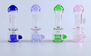 Colorful pot Wholesale Glass Hookah, Glass Water Pipe Fittings, Free Shipping