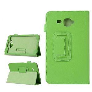 케이스 커버를 들어 7 인치 삼성 갤럭시 탭 7.0 'T280 T285 태블릿 커버 자기 가방 leechee 접히는 폴리오 스탠드