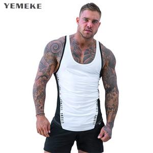 2018 Uomo Estate Palestre Fitness Bodybuilding Canotta Canottiera Moda Uomo Abbigliamento Crossfit Magliette senza maniche traspiranti larghe Vest