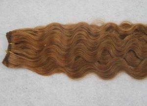 100% Bundles de cheveux humains 10-30 pouces Medium Brown Couleur Onde de Corps Péruvienne 1 Pièce Extensions de cheveux non Remy