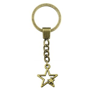 6 Pieces Key Chain Women Key Rings Car Keychain For Keys Hollow Star 27x21mm