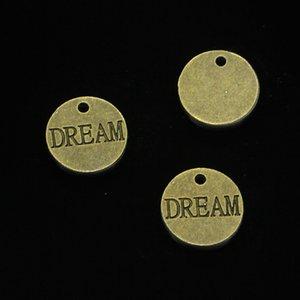 67 pcs liga de zinco encantos placas de bronze antigo chapeado sonho encantos para fazer jóias diy pingentes artesanais 16mm