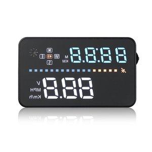 LONGFENG A3 3.5 인치 자동차 HUD 헤드 디스플레이 OBD II 인터페이스 실시간 동적 속도 전압 구동 거리 / 시간 모니터