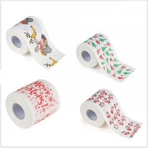 Туалет Рождеством бумаги рулонной бумаги Симпатичные Санта-Клауса шаблон Printed партии Таблица декора принадлежности для отдыха