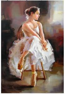 Um Elegante Ballet Meninas Pintura Da Lona, Arte Da Parede Da Lona, Outstanding World Famous Pintura Estilo Reprodução Reproduções Da Lona