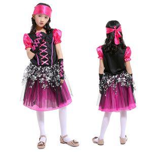 Día de los niños Disfraces de rendimiento Niñas Traje de baile Vestidos de princesa Trajes de niñas Cosplay ladrón de piratas Disfraces de Halloween
