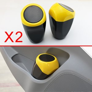 Par Mini Auto Porta Porta-copos Trash Garbage Bin Box Can Dustbin Péssima Merda poeira Caso Acessórios Inner Car