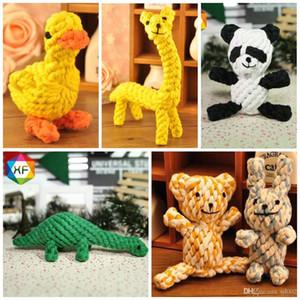 Panda Shape Dog Chew Teether Toys Wear resistente a la mordedura de cuerda de algodón Pet Molars Toy Creative 7 8yf dd