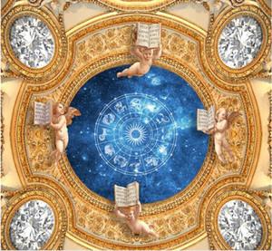 ceiling murals wallpaper Diamond shining luxury magnificent power of the stars Zenith murals