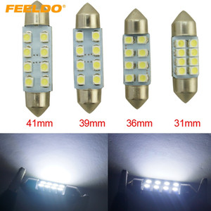 FEELDO 50PCS White 31mm 36mm 39mm 41mm 1210 3528 8SMD Car Interior Light Festoon Dome LED Bulb #1524
