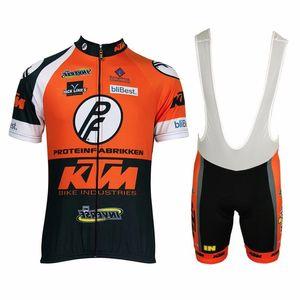 Pro KTM Manga Curta Conjuntos de Camisa de Ciclismo Respirável 3D Sportswear Acolchoado Mountain Bike Bicicleta Vestuário Conjunto de Roupas de Ciclismo 92804Y