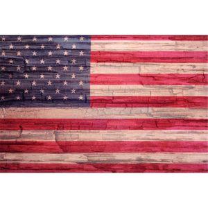 Rotten Wood bandera americana fotografía telones de fondo horizontal feliz 4 de julio bebé recién nacido foto apoyos retro fotográfica estudio fondos
