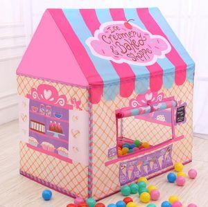 어린이 장난감 텐트 Foldable 휴대용 텐트 소년 소녀 공주 프린스 캐슬 실내 야외 플레이 텐트 놀이 매트 러그 놀이 집 최고의 선물