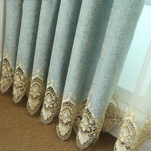 Chenilla agua cortina parche bordado soluble vivir encargo habitación dormitorio ventana acabada
