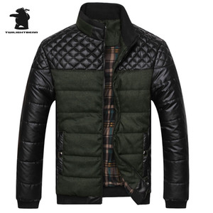 New  Men's Jackets And Coats 4XL PU Patchwork Designer Jackets Men Outerwear Winter Fashion Male Clothing BF13508