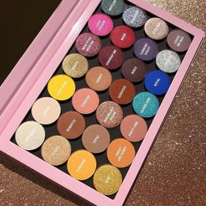 Presell Branded New Cosmetics 28 Farben Lidschatten-Palette matt metallic und satiniert Gepresste Puder-Palette Lidschatten