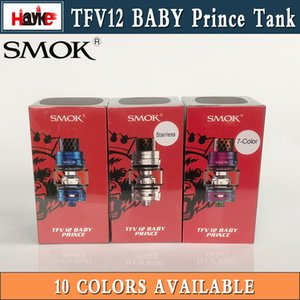 Autentico SMOK TFV12 Baby Prince Tank 4.5ml Bulbo Vetro Subohm Atomizzatore 10 Colori con Cobra 810 Drip Tip 100% Originale SMOKTECH