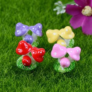 Neue Heiße 100 Stücke Mini Harz Pilz Garten Ornament Miniatur Blumentöpfe Fee DIY Dollhouse kostenloser versand