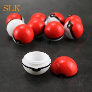Dab personnalisés Conteneurs forme de boule de forme ronde de cire de silicone contenant non solide Couleur Pure Color Dry Herb Jars Dab pour Vaporizer