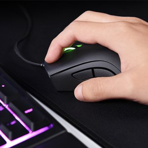 Razer Deathodder Chroma USB cablato Optical Computer Computer Gaming Mouse 6400DPI Sensore ottico Mouse Razer Mouse Deathodder Gaming Topi